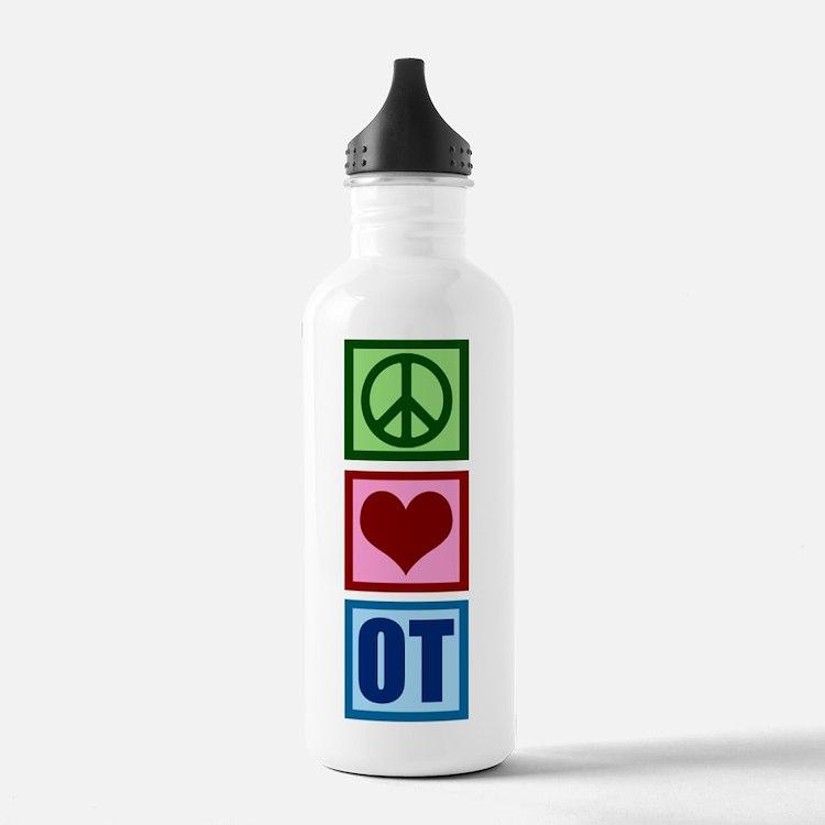 Peace Love OT Sports Water Bottle