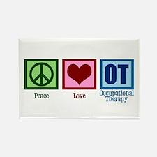 Peace Love OT Rectangle Magnet