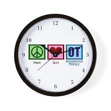 Peace Love OT Wall Clock