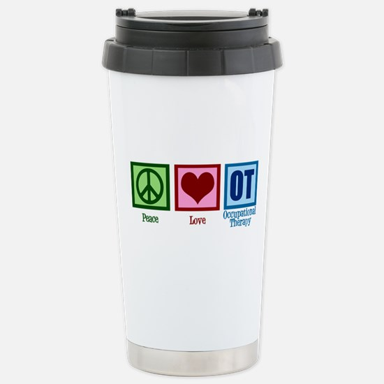 Peace Love OT Stainless Steel Travel Mug