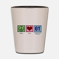 Peace Love OT Shot Glass