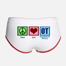 Peace Love OT Women's Boy Brief