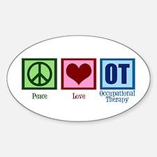 Peace Love OT Sticker (Oval)