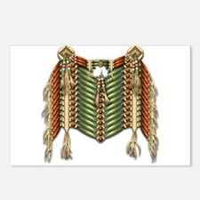 Native American Breastplate 3 Postcards (Package o