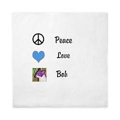 Peace love bob Queen Duvet