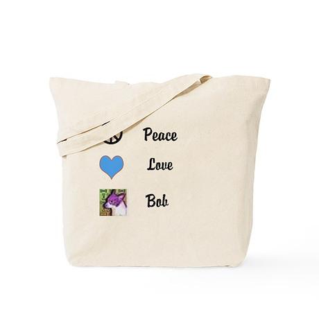 Peace love bob Tote Bag