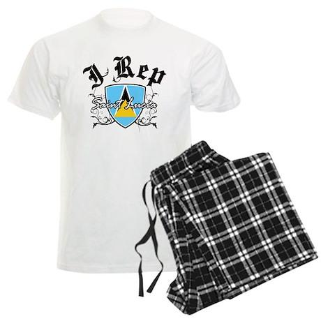 I Rep Saint Lucia Men's Light Pajamas