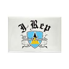 I Rep Saint Lucia Rectangle Magnet