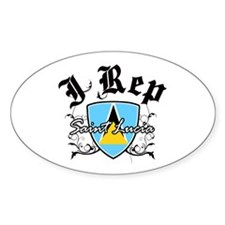 I Rep Saint Lucia Decal