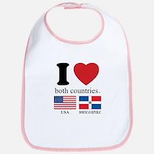 USA-DOMINICAN REPUBLIC Bib