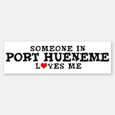 Port Hueneme: Loves Me Bumper Bumper Bumper Sticker