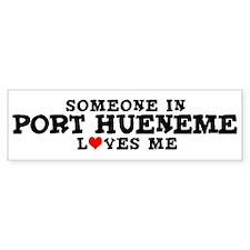 Port Hueneme: Loves Me Bumper Bumper Sticker