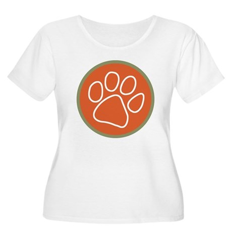 Paw only Women's Plus Size Scoop Neck T-Shirt