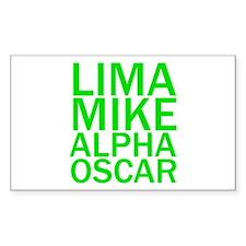 LMAO-Green Decal
