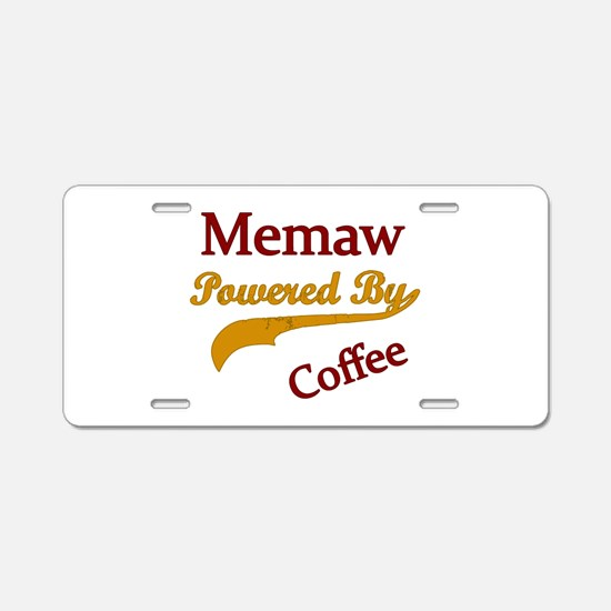 Memaw Aluminum License Plate