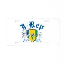 I Rep Saint Vincent Aluminum License Plate