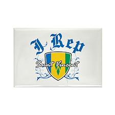 I Rep Saint Vincent Rectangle Magnet