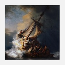 Rembrandt The Storm on the Sea of Galilee Tile Coa