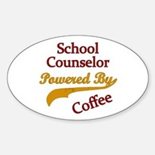 Powered by coffee Teacher counselor Decal