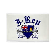 I Rep Turk and Caicos Island Rectangle Magnet