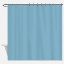 Amara plain cornflower Shower Curtain