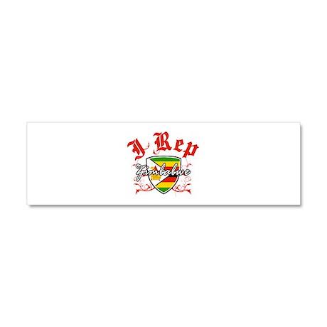 I Rep Zimbabwe Car Magnet 10 x 3