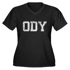 ODY, Vintage, Women's Plus Size V-Neck Dark T-Shir