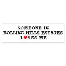 Rolling Hills Estates: Loves Bumper Car Sticker