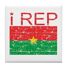 I Rep Burkina Faso Tile Coaster