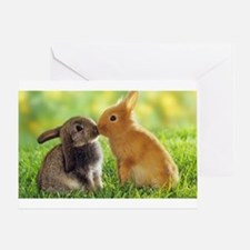 Love Bunnies Greeting Card