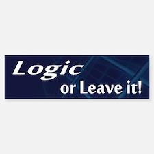 Logic or Leave it Car Car Sticker