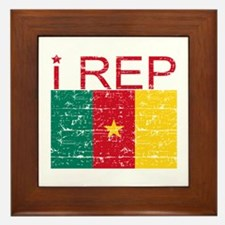 I Rep Cameroon Framed Tile