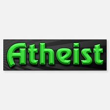Electric Green Atheist Sticker (Bumper)