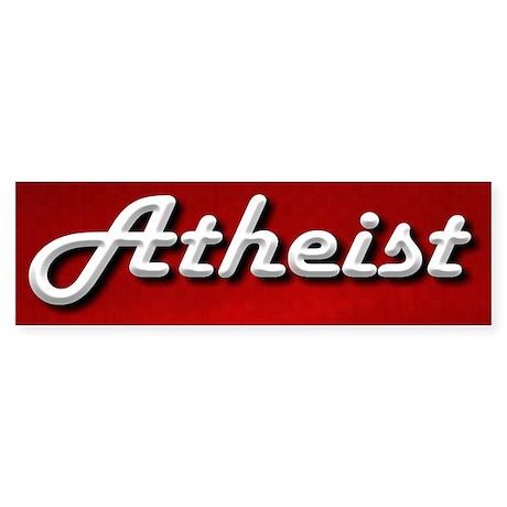 Atheist Classic Sticker (Bumper 10 pk)