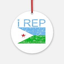 I Rep Djibouti Ornament (Round)