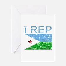 I Rep Djibouti Greeting Card