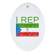 I Rep Equatorial_Guinea Ornament (Oval)