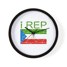 I Rep Equatorial_Guinea Wall Clock