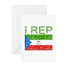 I Rep Equatorial_Guinea Greeting Card
