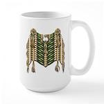 Native American Breastplate 6 Large Mug