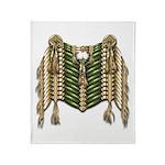 Native American Breastplate 6 Throw Blanket
