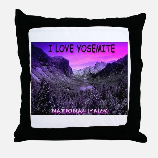 I Love Yosemite National Park Throw Pillow