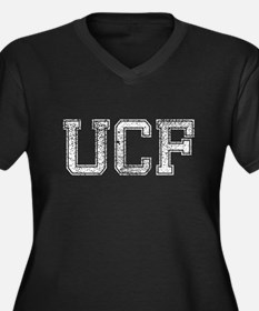 UCF, Vintage, Women's Plus Size V-Neck Dark T-Shir