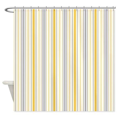 Amara Stripe Amber Shower Curtain by floatinglemons