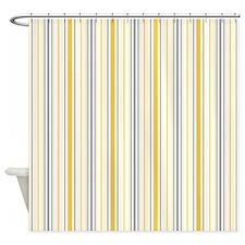 Amara Stripe Amber Shower Curtain