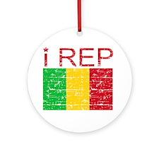 I Rep Mali Ornament (Round)