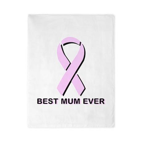 BEST MUM EVER. (Breast Cancer Awareness Ribbon) Tw