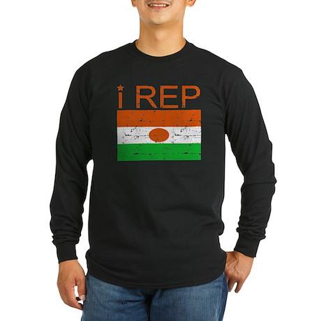 I Rep NIger Long Sleeve Dark T-Shirt