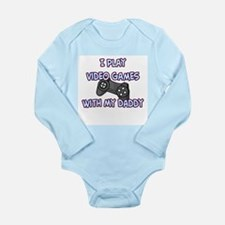 Unique Video game daddy Long Sleeve Infant Bodysuit