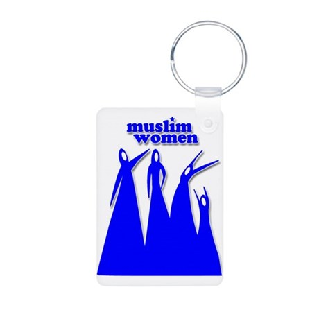 Soul Sisters Blue Aluminum Photo Keychain